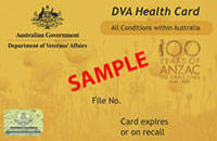 DVA Health Card All Conditions within Australia