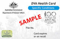 DVA Health Card Special Conditions
