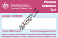 Pension Concession Card