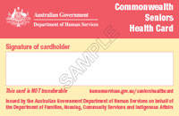 Seniors Health Card