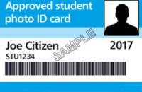 Approved Student Photo ID Card